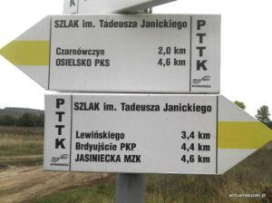 Odnowione oznakowanie na szlaku Bydgoszcz - Osielsko