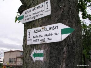 Szlak Bydgoszcz - 艢wiecie (Nadwi艣la艅ski) - drogowskaz