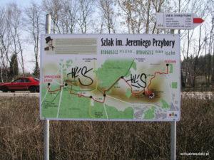 Szlak Jeremiego Przybory - Tablica w Myślęcinku