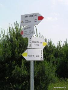 Drogowskaz na szlaku Przybory