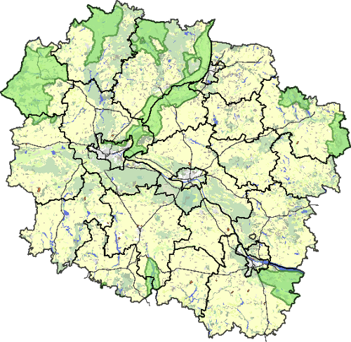 Wyszukiwanie szlaków na mapie województwa