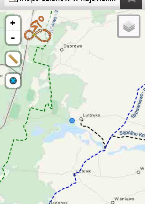 Mapa sieci szlaków w regionie