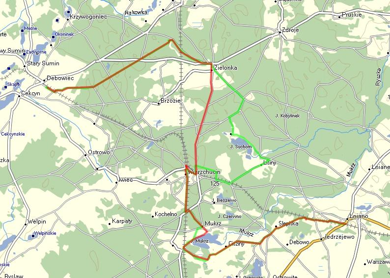 Zmieniony przebieg szlaku Sulisławskiego