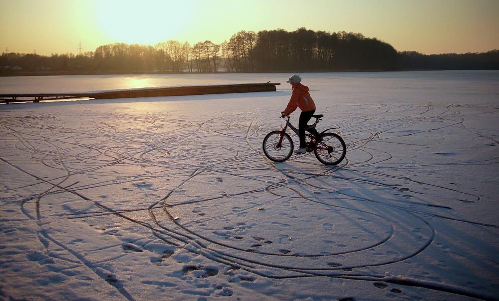 rowerowanie zimą swe uroki ma