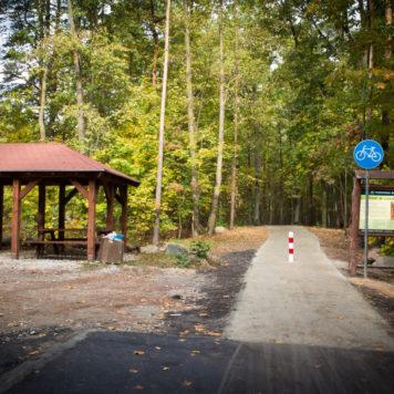 Trasa rowerowa Bydgoszcz - Koronowo - Punkt postojowy na początku trasy