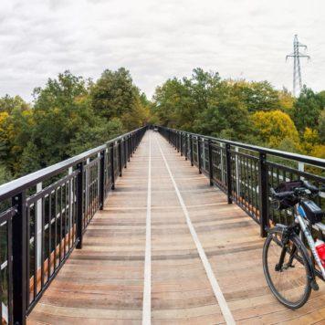 Panorama z mostu nad Brdą w Koronowie