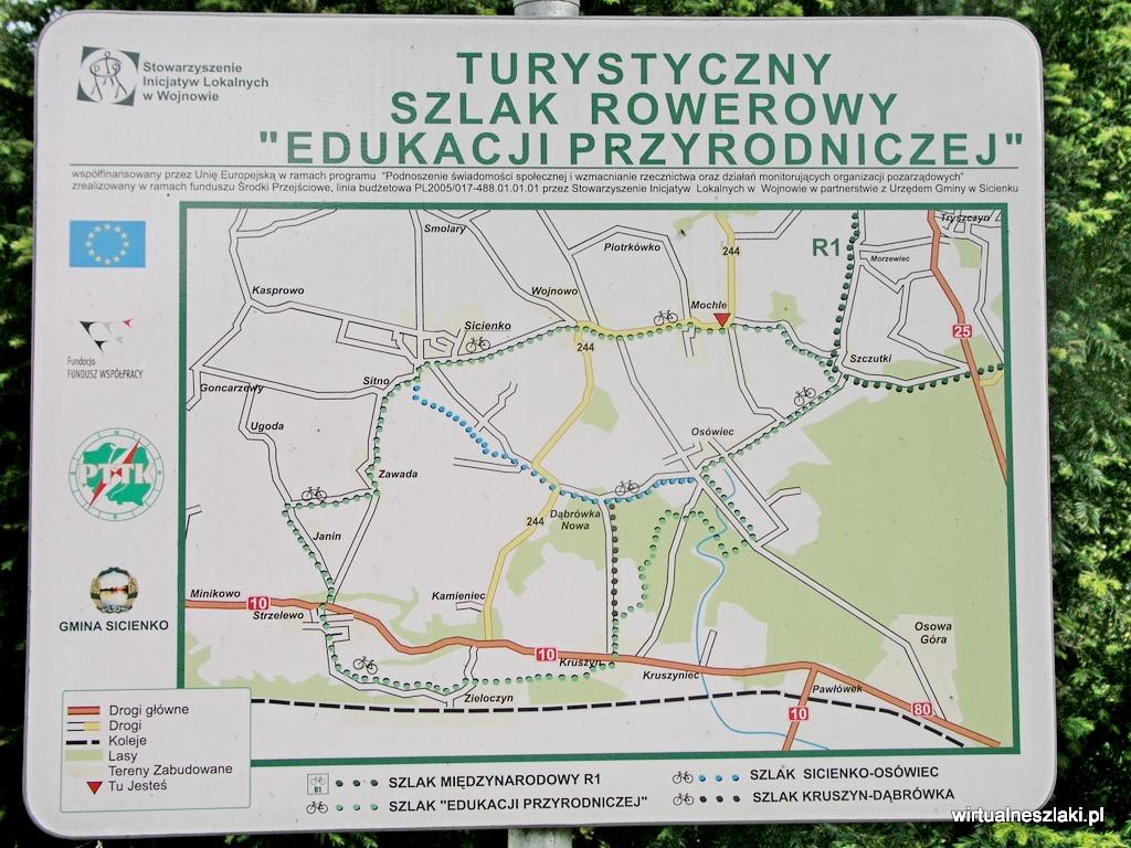 Tablica informacyjna o szlaku