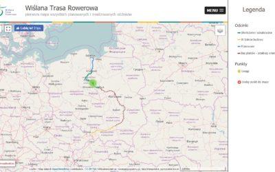 Mapa Wi艣lanej Trasy Rowerowej