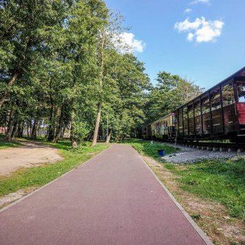 Trasa EuroVelo R13 w okolicy Niechorza