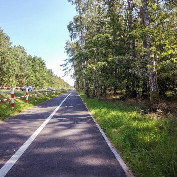 EuroVelo R13 w okolicy Mrzeżyna
