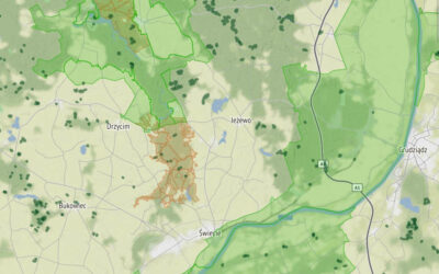 Mapa obszarów pilotażowych bushcraft-survival