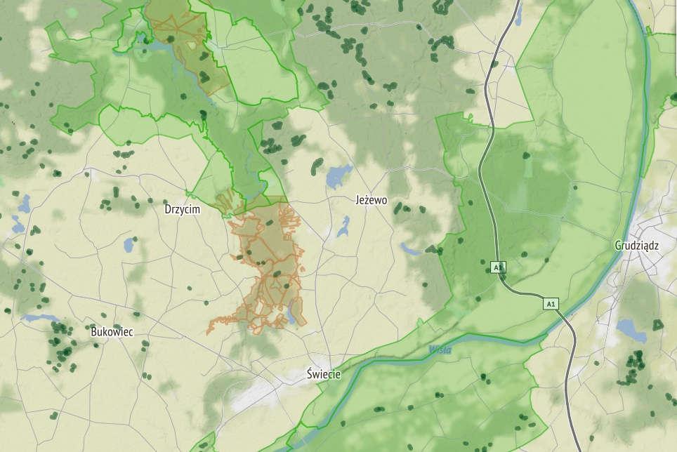 Mapa obszarów bushcraft-survival