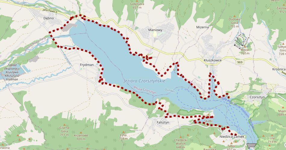 Velo Czorsztyn mapa