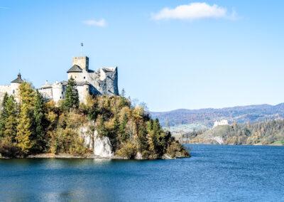 Zamek nad jeziorem czorsztyńskim - trasa rowerowa